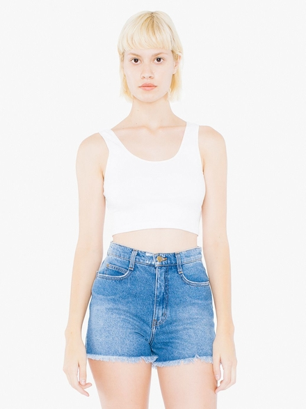 American Apparel AMA Tanktop Crop Cot/Spandex For Her