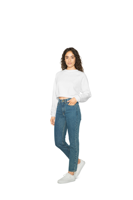 American Apparel AMA Fleece Crop Pullover For Her