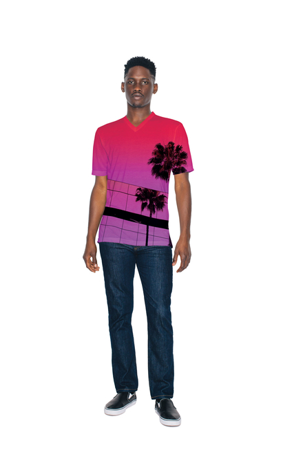 American Apparel AMA T-shirt V-neck Sublimation SS For Him