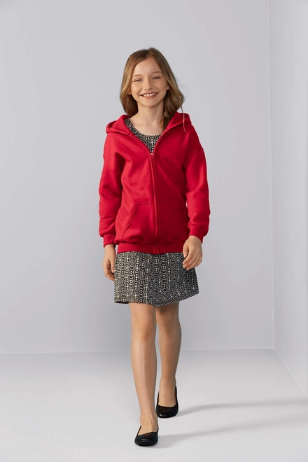 Gildan Gildan Sweater Hooded Full Zip HeavyBlend for kids