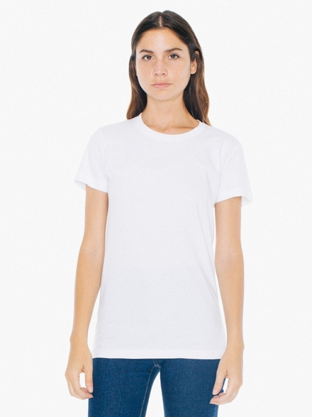 American Apparel AMA T-shirt Crewneck Fine Jersey SS For Her
