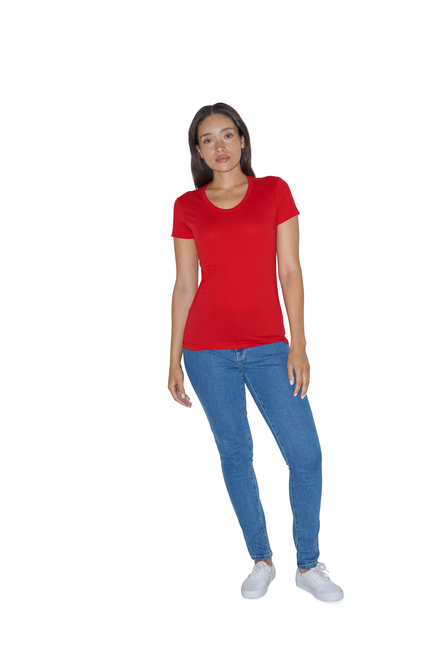 American Apparel AMA T-shirt Pol/Cot SS For Her