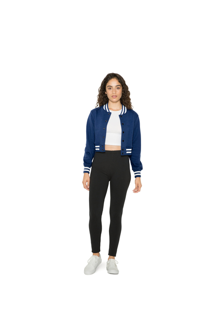 American Apparel AMA Cropped Club Jacket For Her