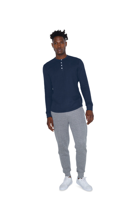 American Apparel AMA Long Sleeve Henley Unisex