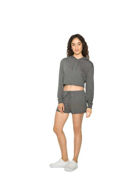 American Apparel AMA Tri-blend Cropped Hoodie For Her