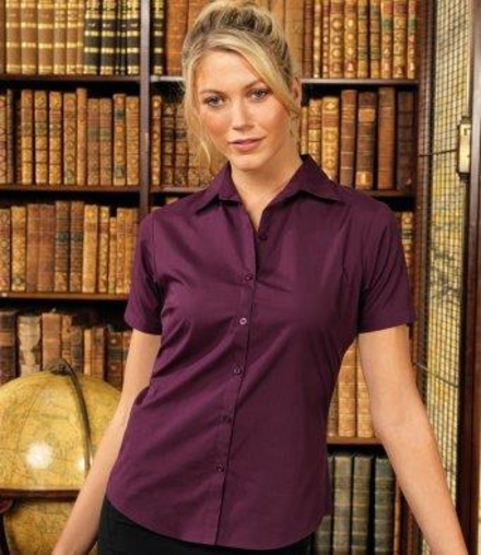 Premier Premier Ladies Short Sleeve Poplin Blouse