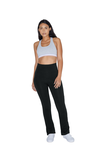 American Apparel AMA Pants Yoga Cot/Spandex Straight Leg
