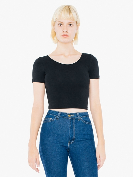 American Apparel AMA T-shirt Crop Cot/Spandex For Her