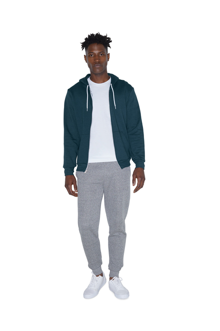 American Apparel AMA Sweater Hooded Zip Flex Fleece for him