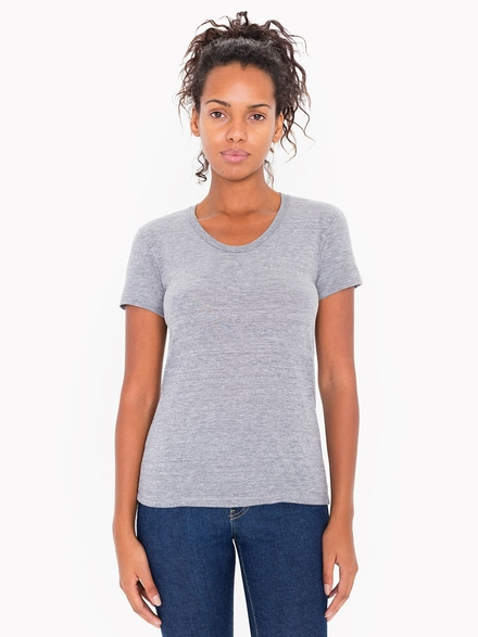 American Apparel AMA T-shirt Crewneck Tri-Blend For Her