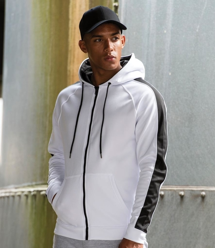 Just Hoods AWDis Contrast Sports Polyester Zoodie