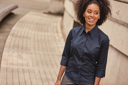 Russell Ladies ¾ Sleeve Fitted Tencel® Shirt
