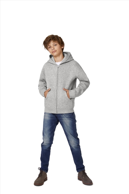 B&C Hooded Full Zip Kids
