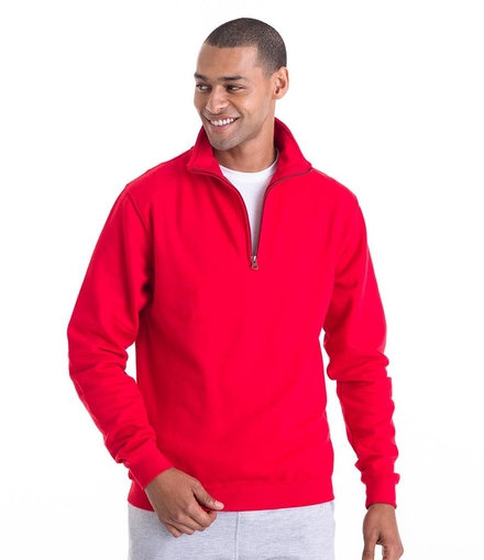 Just Hoods AWDis Sophomore Zip Neck Sweatshirt
