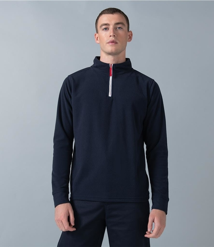 Finden & Hales Finden and Hales Zip Neck Piped Micro Fleece