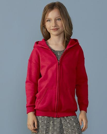 Gildan-PRX Heavy Blend Kids Full Zip Hooded Sweatshirt
