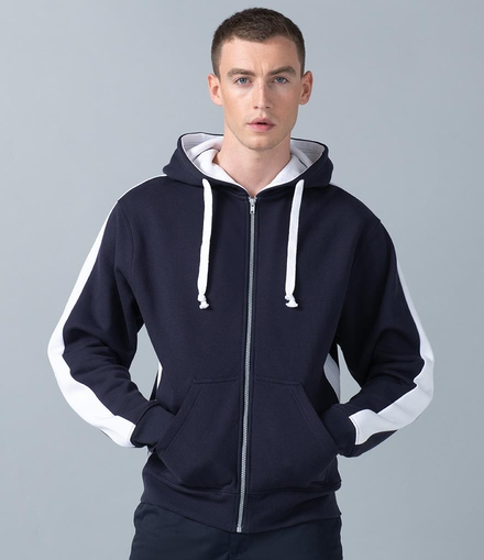 Finden & Hales Finden and Hales Contrast Zip Hooded Sweatshirt