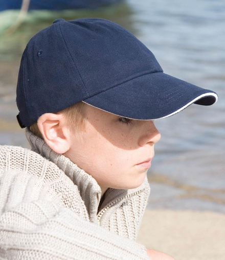 Result Headwear Result Kids Low Profile Heavy Brushed Cotton Cap
