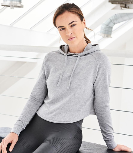Just Cool AWDis Cool Girlie Cross Back Cropped Hoodie