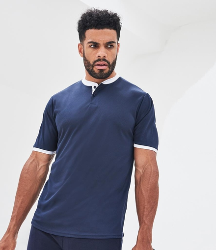 Just Cool AWDis Cool Stand Collar Sports Polo Shirt