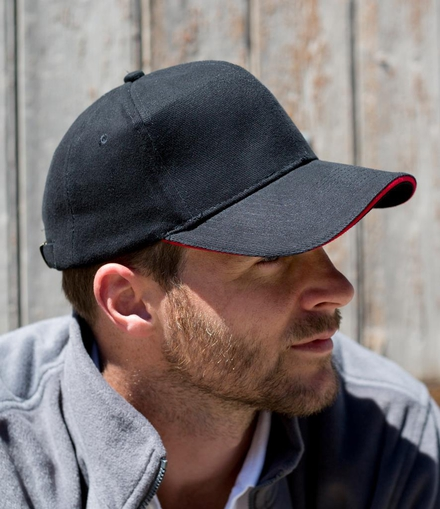 Result Headwear Result Pro-Style Heavy Brushed Cotton Cap