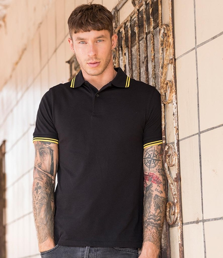 Just Polos AWDis Stretch Tipped Piqué Polo Shirt