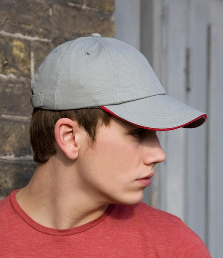 Result Headwear Result Low Profile Heavy Brushed Cotton Cap with Sandwich Peak